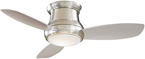44-Inch Minka Lavery Brushed Nickel LED Ceiling Fan