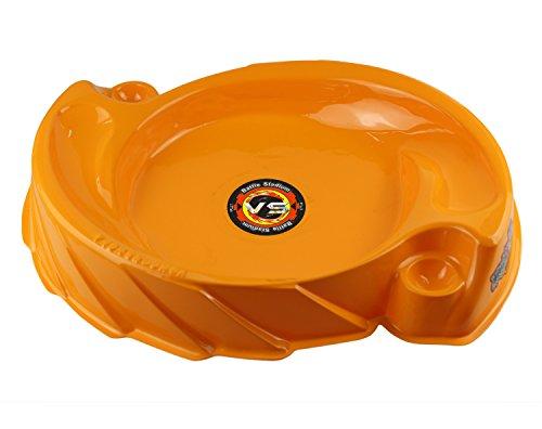 17Tek Bey Stadium Battle Arena Beystadium Vortex Attack Type for Beyblade Brust Super Large Size (Orange)