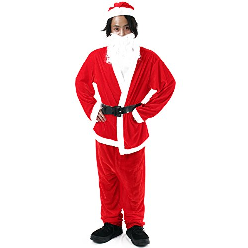 Veroman Men's Christmas Santa's Costume (men's) (Costume Ideas For Men With Beards)
