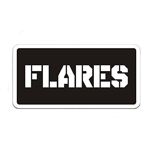 Flares Ammo Can Label Gun Ammunition Box Vinyl 4
