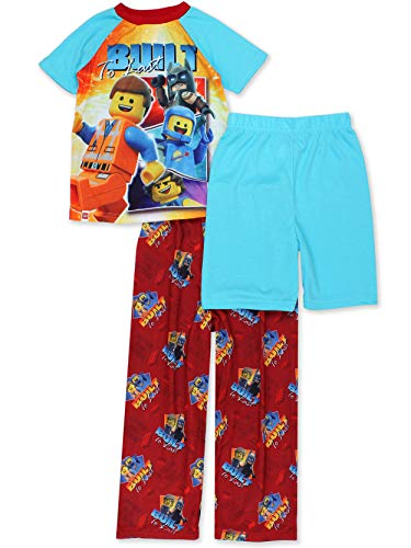 Lego Movie 2 The Second Part Boys 3-piece Pajama Set (4-5, Blue/Red)   ()