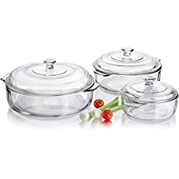 Libbey 6 Piece Glass Casserole Set