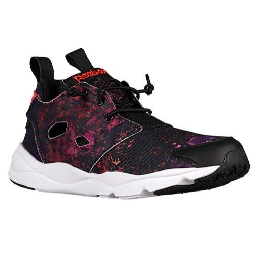 f86f1a14325 Reebok Lifestyle Women s Furylite SR Black Poppy Red Night Violet White  Sneaker 9 B (M)