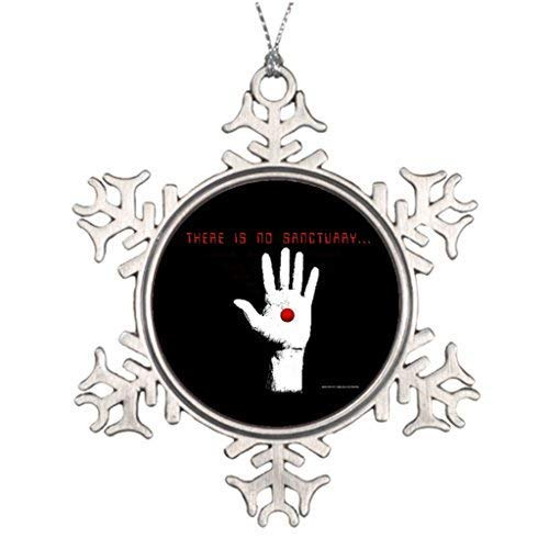 Dozili Christmas Tree Decoration Logans Run There is No Sanctuary - Black Thanksgivings Snowflake Ornaments Merry