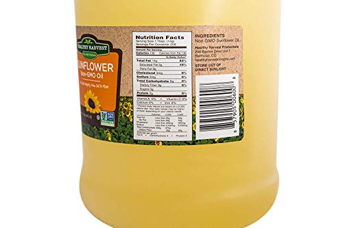 Healthy Harvest Non-GMO Sunflower Oil - Healthy Cooking Oil for Cooking, Baking, Frying & More - Naturally Processed to Retain Natural Antioxidants {One Gallon} by Healthy Harvest Productions (Image #4)