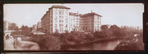 Photo One panoramic photo of Hotel Sommerset showing Commonwealth Ave. and Fenway, Boston, Mass. - Collection Sommerset