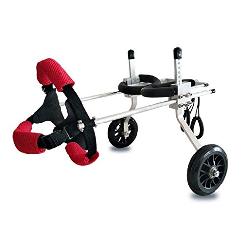 (Dog Bicycle pet Wheelchair Suitable for Large Puppies, cat and Dog Leg Rehabilitation, Adjustable, 2 Rounds (Size : XS))