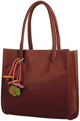 Big Sale Women Fashion Elegant Girls Handbags PU Leather Shoulder Bag Candy Color Flowers Totes Purse B