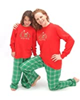 Christmas Trees Flannel Adult Pajama Set & Kids Playwear; Choose Adult or Kids for Family Matching