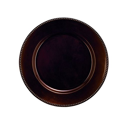 Benzara 62670 Antique Colonial Adorable PP Plastic Round Bead Bronze Charger
