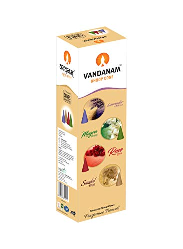 BDS CREATIONS VANDANAM Chandan Scented DHOOP INSCENSE Stick Pack of 12PCS (Best Of Chandan Dass)