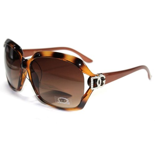 DG EYEWEAR Women's Brown 595 VINTAGE Style Designer Oversized - Dg Vintage Sunglasses
