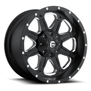(Fuel Boost black Wheel with Painted Finish (16 x 8. inches /6 x 5 inches, 1 mm Offset) )