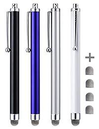 4 unidades Stylus, CCIVV, lapiceras Stylus de punta de fibra con malla híbrida para dispositivos con pantalla táctil.