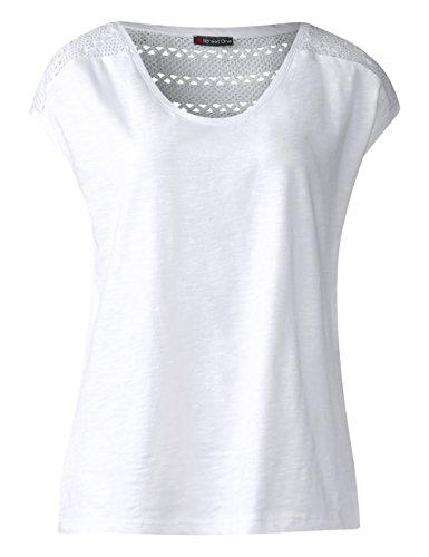White T Shirt Street One Bianco Donna 10000 WS4cqXFqO