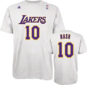 JPG Steve Nash Los Angeles Lakers White Jersey Name and Number T-shirt  XX-Large ... b1ae3f984