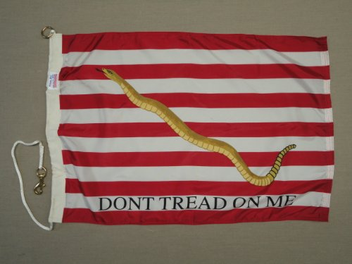 Brass 3' Ring - Perma-Nyl First 1st Navy Jack Snake Valley Forge Indoor Outdoor Dyed Nylon G-Spec (Size 7) Flag Brass Ring Snap 2' 8 9/16