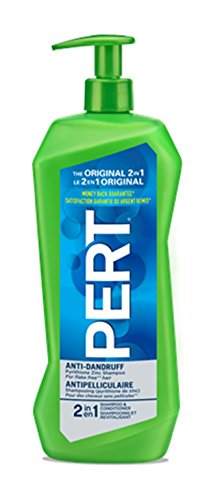 Pert 2 in 1 Anti-Dandruff Shampoo with Pump for Normal Hair, 1 Liter