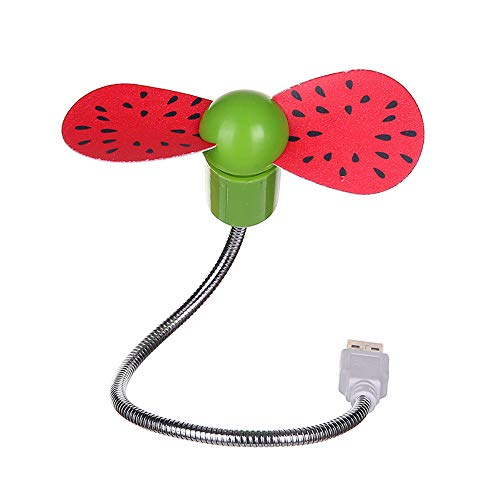 Smdoxi Mini Snake Fruit Flavor Multifunction Fan USB Charging Portable Desktop Fan, Home Silent Fan, Office, Outdoor Travel ()