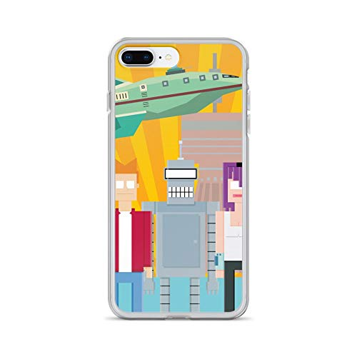 iPhone 7 Plus/8 Plus Case Anti-Scratch Television Show Transparent Cases Cover Futurama Tv Shows Series Crystal Clear
