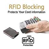 "Minimalist Carbon Fiber Slim Wallet | RFID Blocking Front Pocket Wallet | Carbon Fiber Money Clip | Credit Card Holder for Men and Women | The Perfect Gift ""Money Clip"" | 2018 New Version"