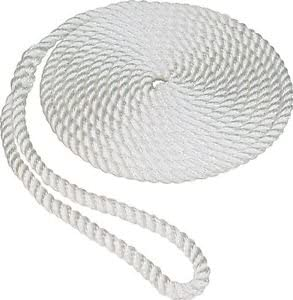 """Boat Mooring Rope 1//2/"""" x 35/' White NEW in Box 3-Strand Twisted Nylon Dock Lines"""