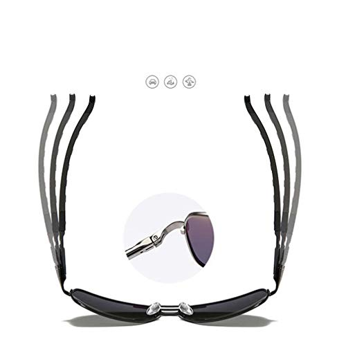 Unisex Metal Polarized Aviator de Conduite pour Frame soleil Lunettes hommes UV femmes Gris xZ0Aqnw