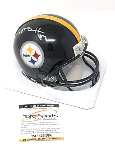 Antonio Brown Pittsburgh Steelers Signed Autograph Mini Helmet TSE Sports Certified from Mister Mancave