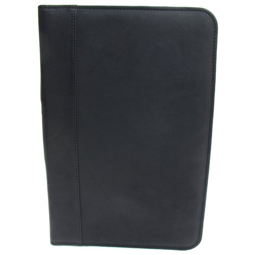 Piel Leather Legal-Size Open Notepad, Black, One (Leather Open Padfolio)