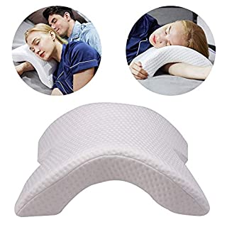 Odizli Multifunction 6 in 1 Memory Foam Pillow Slow Rebound Pressure Pillow Anti-Hand Numb Neck-Protection for Bed Office Nap Travel (1PCS Pillow)