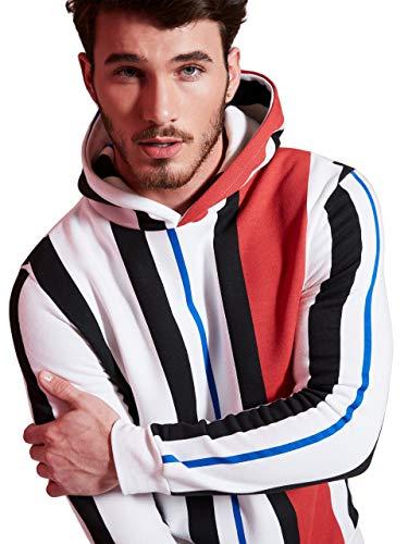 G by GUESS Men's Stripe Fleece Hoodie ()