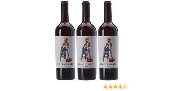 7 Magnífics Rebels de Batea Garnacha tinta, Vino Tinto - 3 botellas de 75 cl, Total: 2250 ml