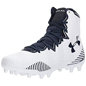 Under Armour Women's Lax Highlight MC, White (101)/Midnight Navy, 7.5