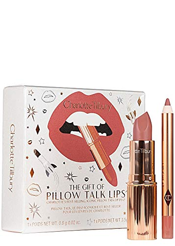 Charlotte Tilbury The Gift Of Pillow Talk Lips Duo Including Full Size Matte Revolution Lipstick And Travel Size Lip Cheat Lip Liner in Pillow Talk