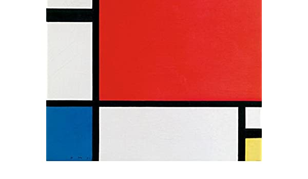 Amazon.com: Piet Mondrian Poster Photo Wallpaper - Composition II in Red, Blue, Yellow, 1930, 2 Parts (95 x 71 inches): Kitchen & Dining