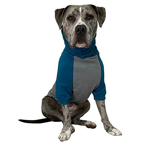Tooth & Honey Large Dog Sweater/Pitbull/Large/Medium/X Large Dog Sweater Dog Sweatshirt/Teal & Grey
