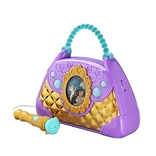 Disney Aladdin Sing Along Boombox with Real Working Microphone Built in Music and Can Connect to MP3 Player by eKids (Image #1)