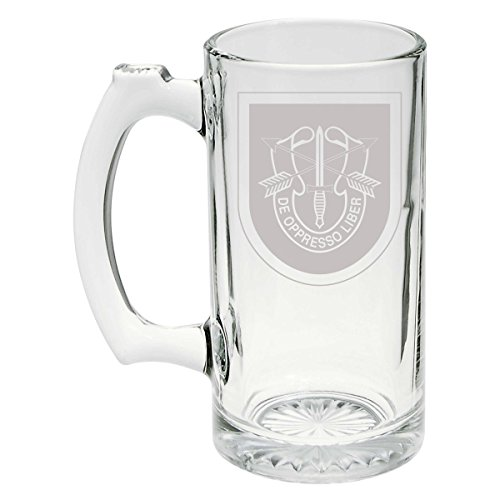 US Army - 5th Special Forces Group SSI Patch Etched Stein Glass 25oz, Mug