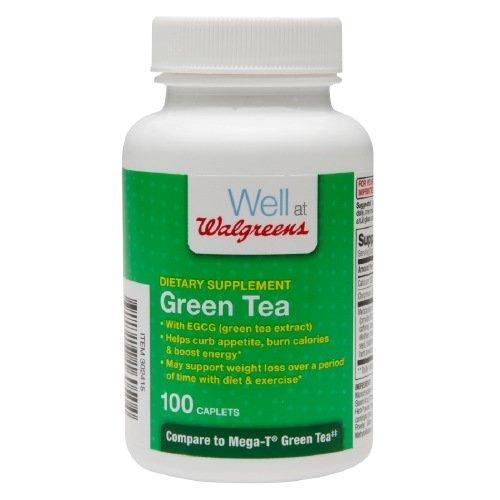 Walgreens Green Tea Dietary Supplements, Caplets 100 ()