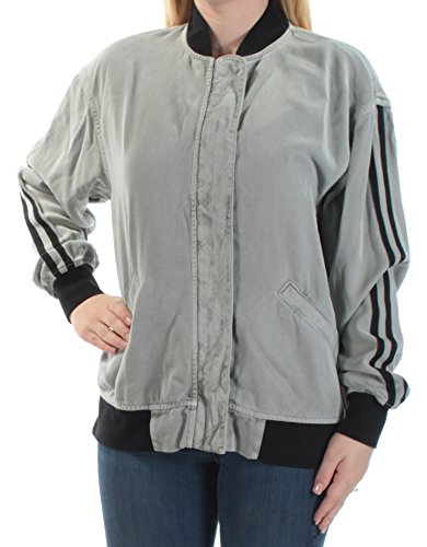 HUDSON $275 Womens New 1090 Gray Bomber Casual Jacket S B+B