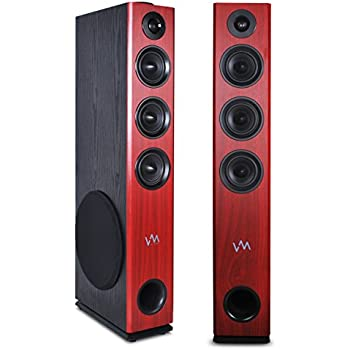 Amazon.com: VM Audio EXAT32 Cherry/Black Floorstanding