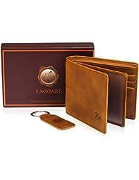Genuine Leather Bifold Wallets For Men Front Pocket Slim Mens Wallet 2 ID Window