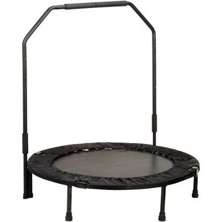 Mini Trampoline,Fitness, 40 Inch,Foldable,With Handlebar by Trampoline World