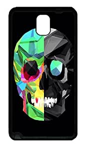 Galaxy Note 3 Case, Note 3 Cases - Polygon Skull Soft Rubber Bumper Case for Samsung Galaxy Note 3 N9000 TPU Black