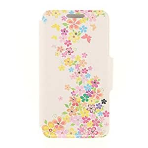 LCJ Kinston Flower and Butterfly Diamond Paste Pattern PU Leather Full Body Case with Stand for iPhone 5/5S