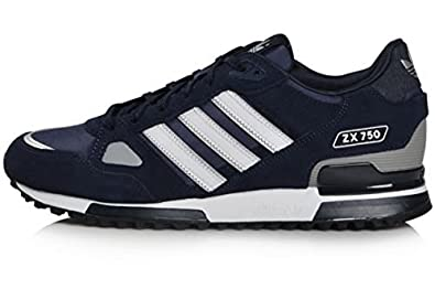 910099831 Adidas Originals Men's ZX 750 Navy Running Retro Casual Shoes Trainers (UK  ...