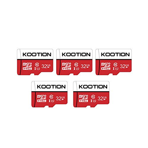 KOOTION 32GB/64GB/128GB Micro SDHC Card Class 10 UHS-I Memory Card Pack