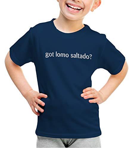 shirtloco Girls Got Lomo Saltado Youth T-Shirt, Navy Blue Large