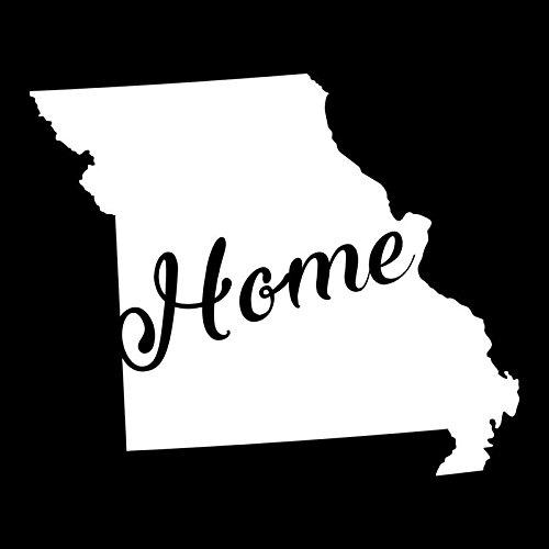 Missouri Home State Vinyl Decal Sticker | Cars Trucks Vans Walls Windows Laptops Cups | White | 5.5 X 4.5 | KCD1943