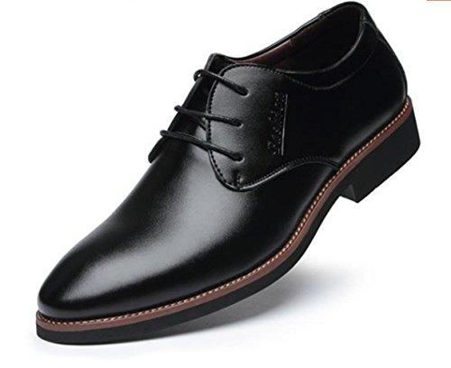 CSDM Scarpe Nuove Uomini Casual Scarpe Casual Scarpe Uomo Con Tacco Resistente Cuoio Respirabile Bottom , black , 44